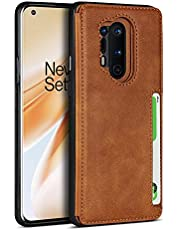 Portemonnee Telefoon Hoesje voor OnePlus 8 Pro (Khaki)