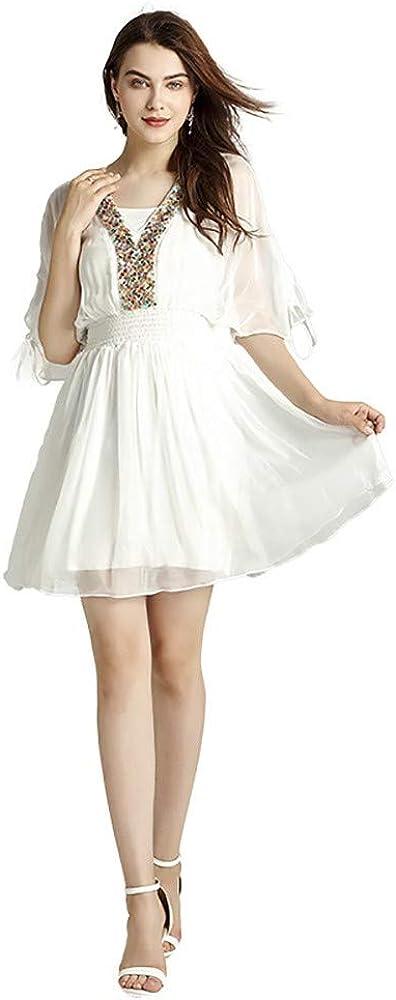 Verano CóCtel Vestidos Fiesta Mujer Falda De Playa Blanca con ...
