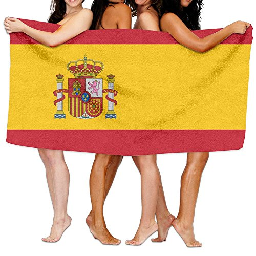 HSs4AD Flag Of Spain Bath Towel Sports Beach Pool Super Soft Highly Absorbent Washcloth by HSs4AD