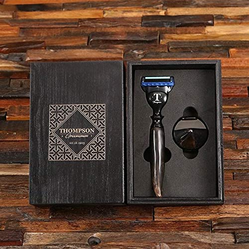 Ox-Horn Razor Stand Customized Gift Set