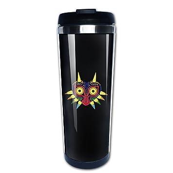 Máscara búho la Leyenda de Zelda tazas de viaje taza de café de acero inoxidable