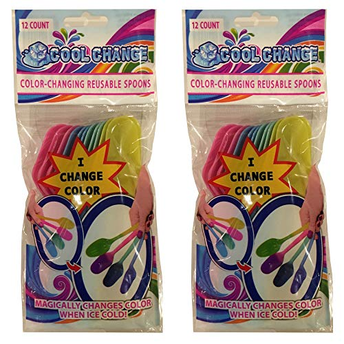 Color Changing Spoons (2 Packages) Party Favorite ()
