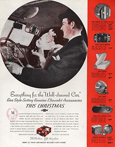 Everything for the Well-dressed Car - Chevrolet accessories ad 1937 Col