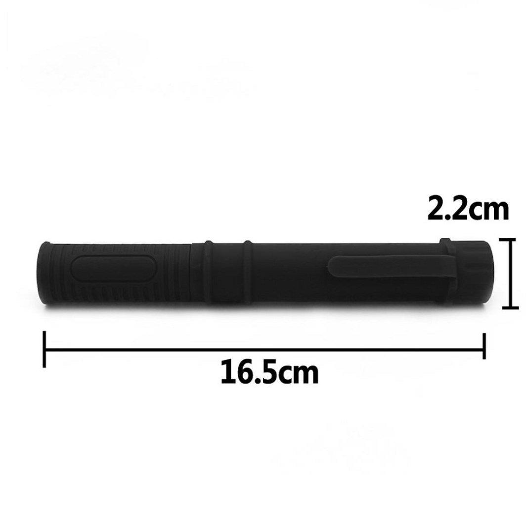 Sisit Lampe de poche portable mini porcket pour nimporte quel endroit Lampe COB multifonction avec base magn/étique LED de 3 watts en haut Noir Voyant LED de 1000 lumens