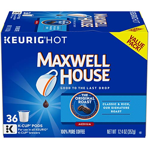Maxwell House Original Roast Keurig K Cup Coffee Pods (36 Count)