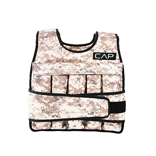 CAP Barbell 40 Lb Cap Adjustable Weighted Vest, Light Brown Camo