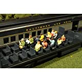#4: Bachmann Scene Scapes-Miniture Figures-Waist-up Seated Passengers (12pcs/Pk) HO Scale, Multicolor