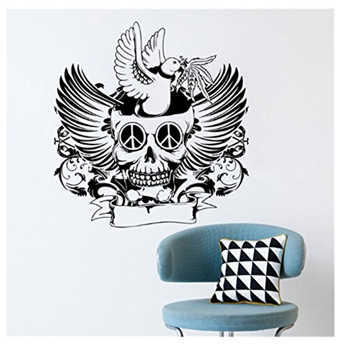 (primerry Peace Dove Skeleton, Wall Decal Stickers for Living Room/Bedroom Decoration(Specifications 58 X 61cm))