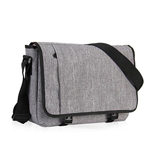 Hynes Eagle Laptop Messenger Bag for 15 inch Light Gray