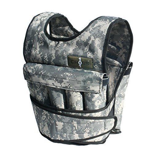 Cross101 Camouflage Adjustable Weighted Vest with Shoulder Pads