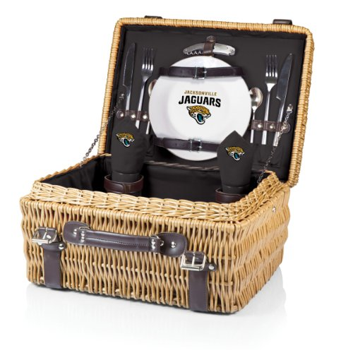 NFL Jacksonville Jaguars Champion Picnic Basket with Deluxe Service for Two, Black by PICNIC TIME