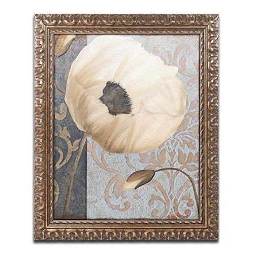 (Poppy Brocade I by Color Bakery, Gold Ornate Frame 11x14-Inch)