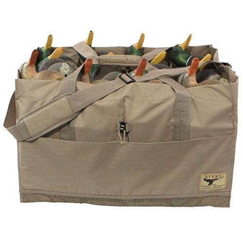 Avery Outdoors 00156 12 Slot Duck Bag Hunting & Shooting Equipment, Field Khaki