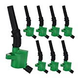 Big-Autoparts High Performance Ignition Coils For Ford 4.6L 5.4L V8 DG508 DG472 DG491 Complete Set of 8pcs Ford Crown Victoria Expedition F-150 F-250 Mustang Lincoln Mercury and More (Green)