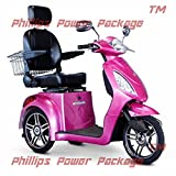 E-Wheels - EW-36 Full-Sized Scooter - 3-Wheel - Pink - PHILLIPS POWER PACKAGE TM - TO $500 VALUE