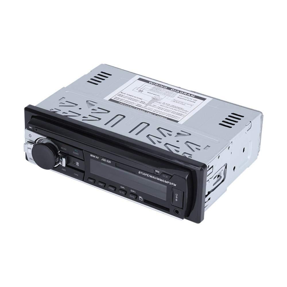 Cuque Digital Bluetooth Car Stereo Radio MP3 USB SD MMC AUX-in FM Player in-Dash Bluetooth Microphone 12V Car Stereo Player
