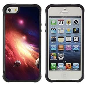 Suave TPU GEL Carcasa Funda Silicona Blando Estuche Caso de protección (para) Apple Iphone 5 / 5S / CECELL Phone case / / Galaxy Fire Planets Art Red Dwarf Star Dust /