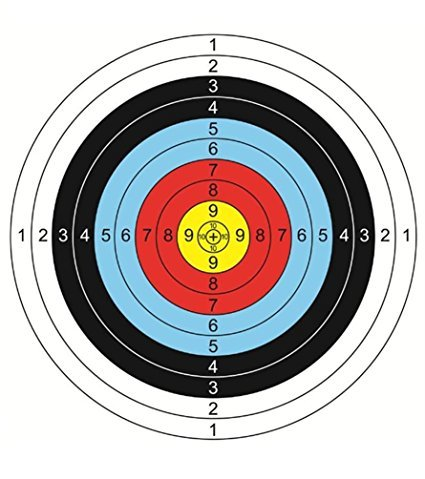 aseeker 30pcsアーチェリー矢印ターゲットペーパーターゲット撮影アクセサリー理想的な、一致とDaily Practice使用アウトドアShooting Practice