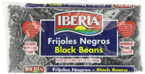 Iberia World Foods Beans, Black, Dry, 12-Ounce (Pack of 24) by Iberia
