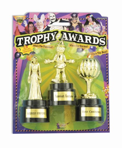 Best Group Costume Award (Forum Novelties Halloween Costume Trophy Awards, 3-Pack)