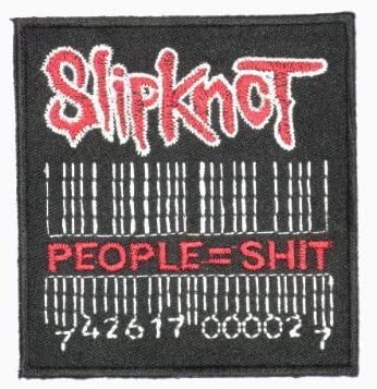 SLIPKNOT People = Shit Barcode Iron On Sew On Embroidered Metal Band Patch 3.1//7.8cm x 2.7//7cm By MNC Shop by MNC Patch