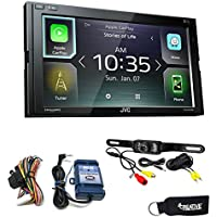 JVC KW-M740BT Apple CarPlay, Android Auto 2-DIN Receiver (No CD) with back up camera and steering wheel interface