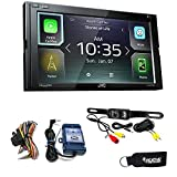 JVC KW-M740BT Apple CarPlay, Android Auto 2-DIN Receiver (No CD) with Back up