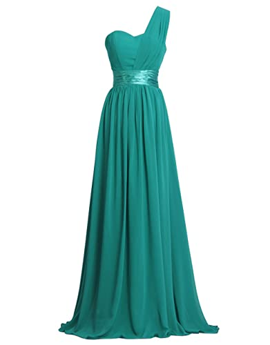 Get Bridesmaid Dress 1-2 Days From Fashion Plaza One-Shoulder Chiffon D0126