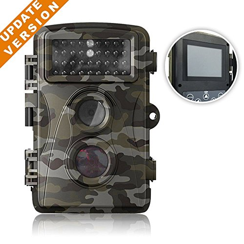 HD Mini Trail & Game Camera,12 MP 1080P Low Glow Infrared Scouting Camera Night Vision Motion Activated Outdoor Wildlife Cameras and Waterproof IP66 by Flinelife (H9)