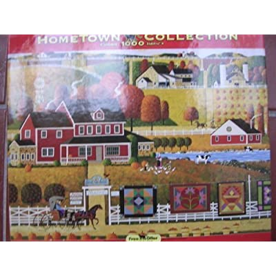 Hometown Collection 1000 Piece Jigsaw Puzzle ; Bird in Hand Quilts by Heronim: Toys & Games