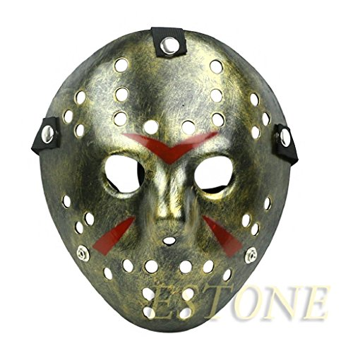 Adult Horse With Elastic Mask (AISme Vintage Hockey Style Jason vs. Freddy Cosplay Halloween Mask With Straps)