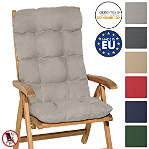 Beautissu Cuscino per Sedia a Sdraio Flair HL 120x50x8cm Extra Comfort per sedie reclinabili, spiaggine e poltrone… 2 spesavip