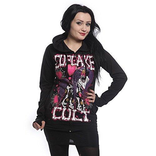 Cupcake cult muerte pony veste à capuche pour femme-capuche avec dentelle et laçage dans le dos
