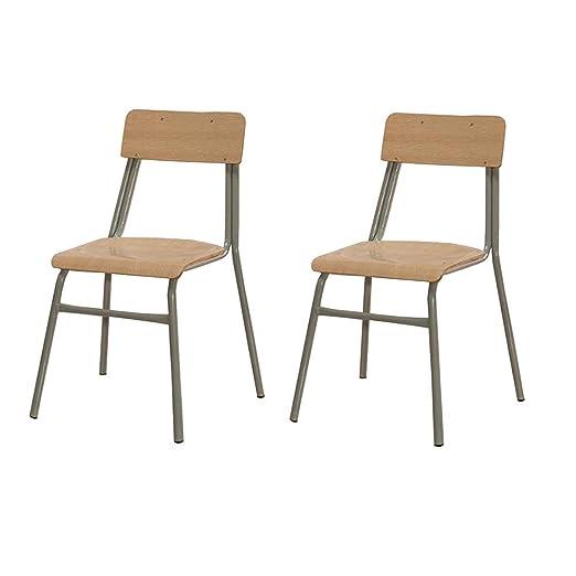 Amazon.com: XUERUI Reception Chairs Chairs Stackable Metal ...