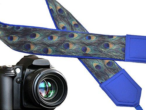 Peacock Camera Strap. Blue. Green. Golden. Camera Accessory. Wearable tech & Accessories idea! Code 00316