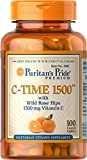 Puritan's Pride Vitamin C-1500 mg with Rose Hips Timed Release-100 Caplets