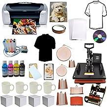 8in1 Pro Combo Heat Press,Epson Printer,CISS Ink, Tshirt,Mug,Phone Case Bundle