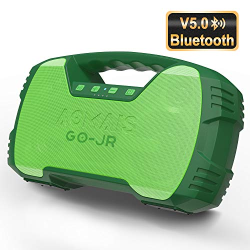 Portable Bluetooth Speakers V5.0, Waterproof Wireless Home Party Speaker, 25W Rich Bass Impressive Sound, 15 Hrs Playtime & Wireless Stereo Pairing, Built-in Mic, Durable for Indoor, Outdoor – Green