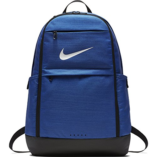 (Nike Brasilia Training Backpack, Extra Large Backpack Built for Secure Storage with a Durable Design, Game Royal/Black/White )