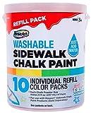 (US) RoseArt Sidewalk Chalk Paint Bucket Refill 10ct