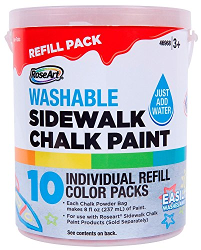 Rose Art Sidewalk Chalk Paint Bucket Refill 10ct (Paint Refills)