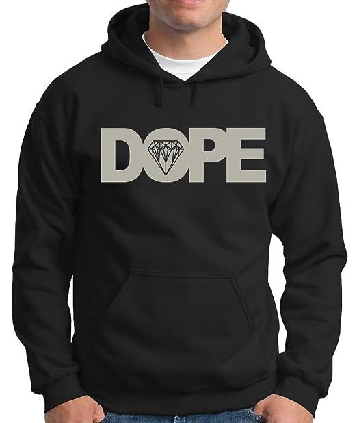 – Sudadera con capucha sudadera DOPE Diamond negro/plateado M: Amazon.es: Ropa y accesorios
