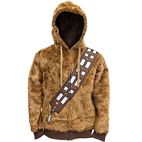 Star Wars - I Am Chewie Juvy Costume Zip Hoodie - Juvy 7 (Boys I Am Chewbacca Costume Tshirt)