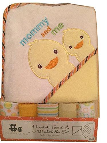 - CribMates Hooded Towel & 5 Washcloths Set