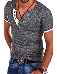 MT Styles – BS-544 – T-Shirt – V-Neck Buttons