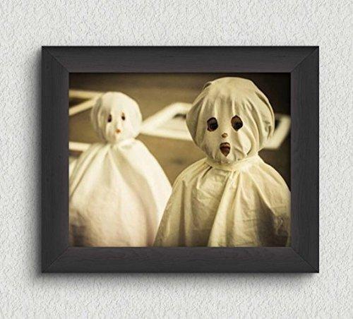 Creepy Cute Ghost Kids Photo Vintage Art Print - 8x10 Wall Art - Halloween (Creepy Vintage Halloween Costumes)