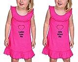 Ladies Love Me Girls Adore Me Ruffle Collar Tank Dress Twin Set Hot Pink 6 Months