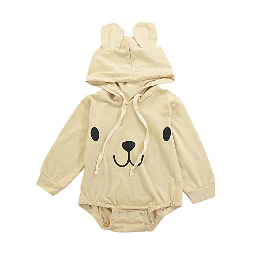 cda7672eb Amazon.com  Odeer Newborn Infant Baby Boy Girl Romper Cute 3D Bear ...