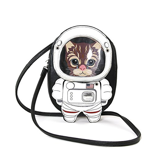 Crossbody Black Cat Bag Astronaut Shoulder nx8HwAEA