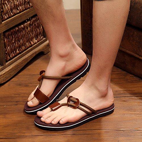 Marrone Pantofole Pantofole skid Uomini Ciabatte a Anti Le Personalizzate Tendenze Estate 40 Moda Scuro Cool Fankou aPq6wYa